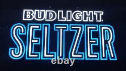 Bud Light Seltzer Couleur Changeant Led Opti Neon Beer Sign 32x17 Flambant Neuf Dans La Boîte