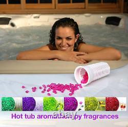 Cambridge 5-personne Hot Tub Spa 34 Jet 5hp Aromathérapie Leds Bluetooth Waterfall