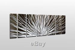 Changement De Couleur De L'art De Mur Abstrait Abstrait En Métal De Sculpture En Bois Décor De Peinture Rvb