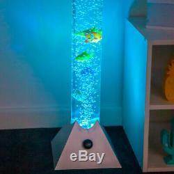 Changement De Couleur De Lampe De Plancher De Tube D'eau De Poisson À Bulles Sensorielle Nouveauté Aquarium Led