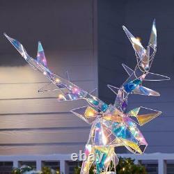 Changement De Couleur De Noël Reindeer Extérieur Cour Décor Mousseux De Vacances Sculpture