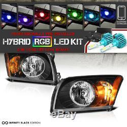 Changement De Couleur Led Faisceau Faible Pour 07-12 Dodge Caliber Srt Style Phares L + R