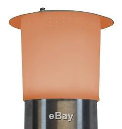 Chauffe-terrasse Électrique Halogène 1500 W + Haut-parleur Bluetooth, Lumière Led À Changement De Couleur