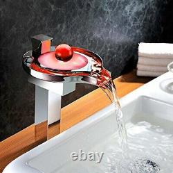 Chrome Led Waterfall Colors Changing Bathroom Basin Mixer Sink Robinet Hdd727h