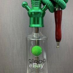 Ciroc Vodka Pomme 1l Bouteille Hookah Avec 16 Changement De Couleur Led De Stand Avec Télécommande
