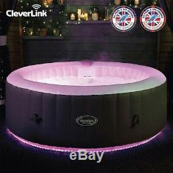 Cleverspa Monte Carlo 6 Personne Gonflable Avec Bain À Remous Spa & App Led Lights