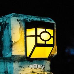 Clôture De Jardin À Énergie Solaire Lumières 7 Changement De Couleur Led Outdoor Wall Light Nuit