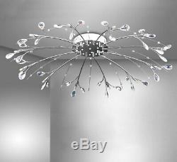 Commande D'une Lampe Led Plafond XXL Rc Et Changement De Couleur Lumière Lustre 90cm Raccord
