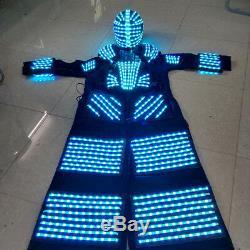 Cool Télécommande 7 Changement De Couleur Led Robot Vêtements Vêtements Costume Partie Costume