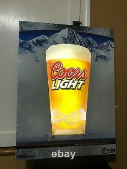 Coors Light Beer Led Bar Sign Man Cave Color Changing Equity Draft Decor Pint