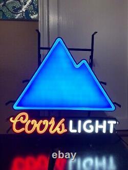 Coors Light Color Changing Mountains Led Beer Bar Sign Man Cave Decor Nouveau Garage