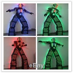 Costume Costume Vêtements Robot Led Illumination Danse Télécommande 7 Changement De Couleur