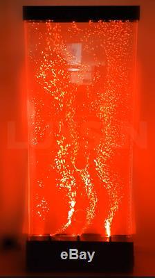 Couleur Changeante De L'eau De Couleur Sensorielle De Mur De Bulle De Rvb Led Toute Taille Avec À Distance