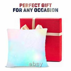 Couleur Changeante Mood Pillow Led Glow Dark Light Up Cosy Relax Fur Cushion Soft
