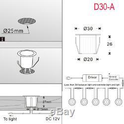 Couleur De 1-50x30mm Woodside Rvb Changeant La Plate-forme De Led Allume L'éclairage De Cuisine / Jardin