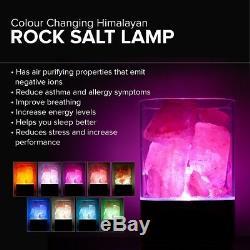Couleur De La Lampe Au Sel De L'himalaya Naturel Changeant Led Ioniseur De Sel En Cristal De Cristal Usb