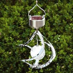 Couleur Énergie Solaire 3d Changement Vent Spinner Hanging Spirale Éclairage Led De Jardin