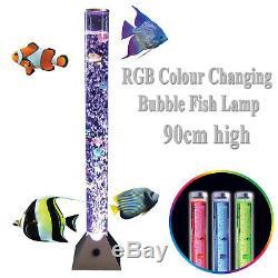 Couleur Rgb Led Changement Bulle D'eau Poissons D'aquarium Tube Sensoriel Mood Lampe De Nuit