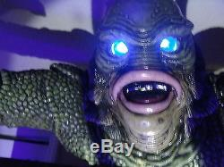 Créature De La Lagune Noire Pinball Topper Changement Led Couleur Des Yeux Avec Telecommande