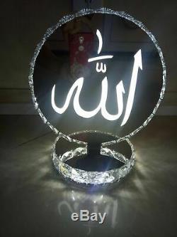 Cristal Lampe De Table Couleur Change Allah Bluetooth Haut-parleurs Intégrés 2019
