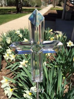 Croix Solaire Lumière Paysage Jardin Stake Extérieur Décoration De Changement De Couleur Led