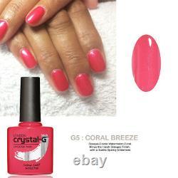 Crystal-g Cgcg05 Coral Breeze Hybrid Uv Led Soak Off Coral Gel Nail Polonais