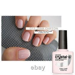 Crystal-g Cgcg13 Pink Chiffon Hybrid Uv Led Soak Off Semi-sheer Pink Gel Polonais