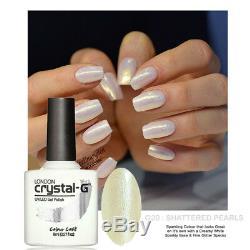 Crystal-g Cgcg20 Shattered Pearl Led Hybride Uv Soak Off Gel Vernis À Ongles