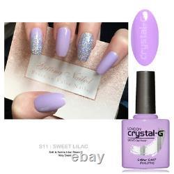 Crystal-g Cgss11 Sweet Lilac Classic Hybrid Uv Led Soak Off Gel Nail Polish Royaume-uni