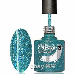 Crystal-g Diamond Gamme D04-teal Burst 8ml Uv/led Soak Off Gel Nail Polonais