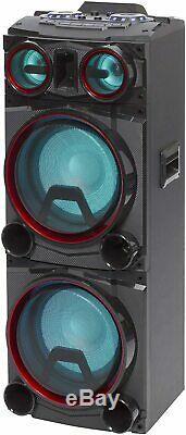 Daewoo 400w Bluetooth Subwoofer Party Changement De Couleur Led Lights Président