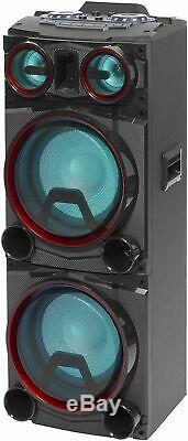 Daewoo 400w Bluetooth Subwoofer Party Rgb Color Led Changement Haut-parleur Basse +