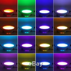 Dimmable Rgb Led Panneau Encastré Lampe 10w Plafond Bas Ampoule Avec Télécommande Ir