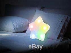 Doux 5 Modification De La Couleur De L'humeur Oreiller Led Glow Light Up Drk Relax Coussin Fourrure Confortable