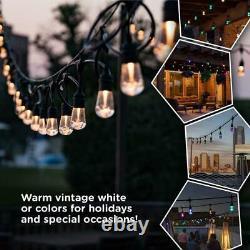 Enbrighten 24-bulbe 48 Ft Vintage Seasons Color Changing Cafe Integrated Led