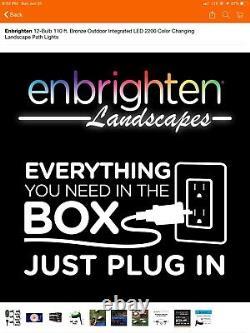 Enbrighten Paysage Path Lights 12 Puck Lights 110 Ft Led Couleur Changer
