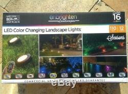 Enbrighten Paysages Chemin Lumières 12 Puck Lumières Changement De Couleur Led 110 Pi