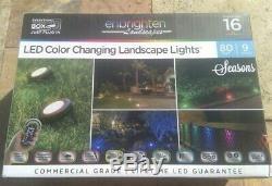 Enbrighten Paysages Chemin Lumières 9 Lumières Puck 80 Pieds Led Color Changing