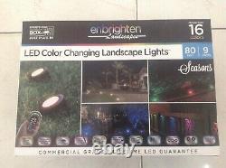 Enbrighten Paysages Chemin Lumières 9 Puck Lumières 80 Pieds Led Couleur Changer
