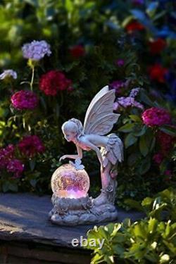 Énergie Solaire Changeant De Couleur Led Pixie Debout Fée Jardin Décoration Décor