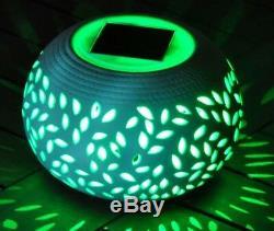 Énergie Solaire Tableau Éclairage Led De Jardin D'ornement Changeant De Couleur De La Lampe En Céramique Nouveau