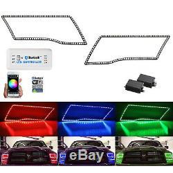 Ensemble Anneau Bluetooth Pour Phare À Del Changeant Multicolore De Phares À Del Dime Ram Sport 09-16