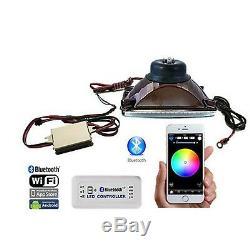 Ensemble D'ampoules Halogènes Halogènes Pour Phares À Changement De Couleur Bluetooth 4x6 Rgb Smd
