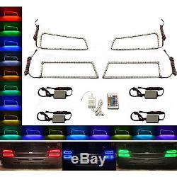 Ensemble De Bague Halo Pour Phare À Changement De Couleur Rvb 03-06 Chevrolet Silverado