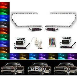 Ensemble De Bague Halo Pour Phare À Changement De Vitesse Rvb 13-14 Ford F-150 Multicolore