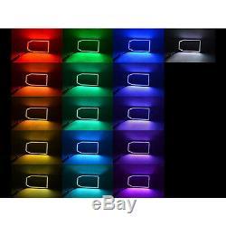 Ensemble De Bague Halo Pour Phare À Del Changeante Multicolore Led Rgb Smd 14-16