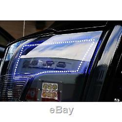Ensemble Phare Halo Anneau M7 Avec Phare À Del Rvb Changeant Multicolore De Dodge Ram Sport 09-16