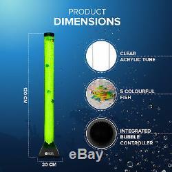 Extra Large 120cm Changement De Couleur Led Sensorielle Bubble Tube Lampe Mood Poisson D'eau