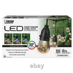 Feit 72018 30 Pieds 15 Ampoules Couleur Changement Led Chaîne Lumières 22396