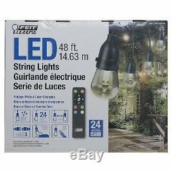 Feit Électrique 48ft Led Light Cordes Avec Télécommande (imperméable À L'eau, Changeant De Couleur)